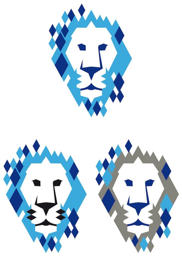 lion head coloured