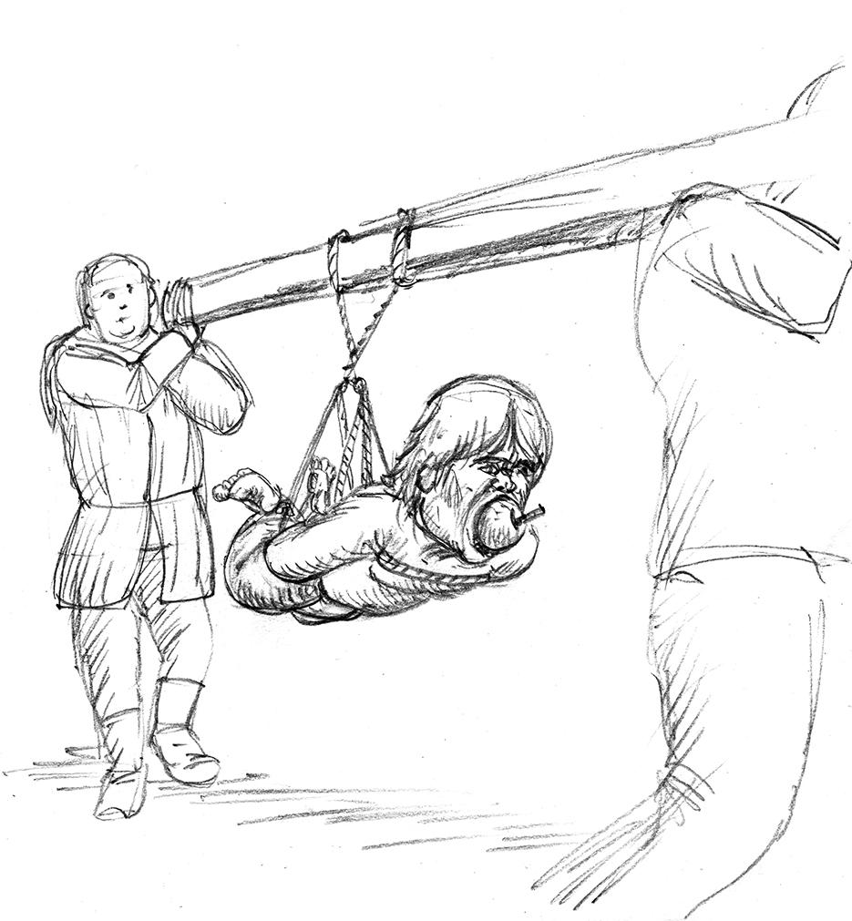 sketch of tyrion lannister, hanging,